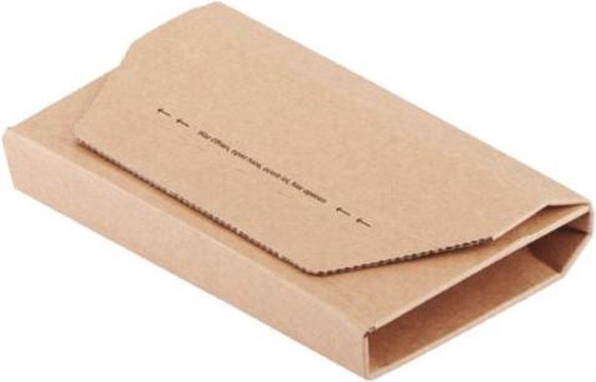 ,Wikkelverpakking CleverPack cd +zelfkl strip bruin 10stuks
