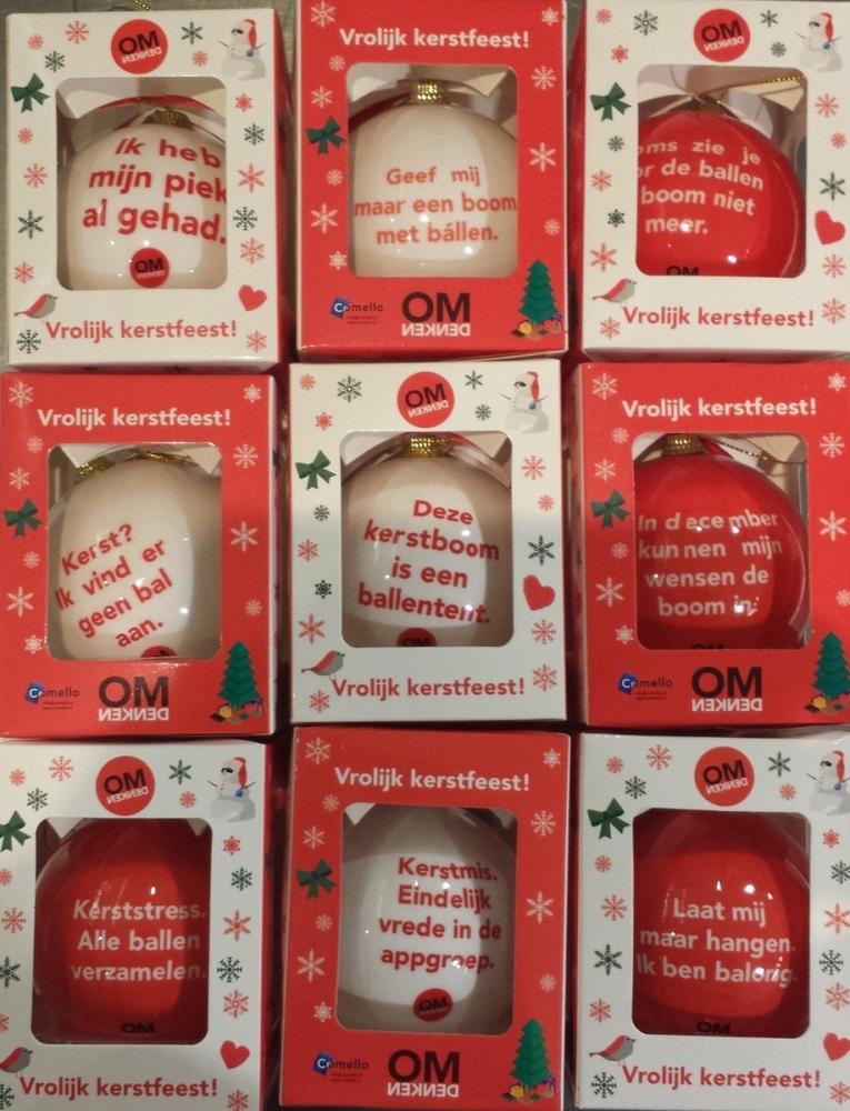 ,Kerstballen omdenken 9 stuks in doos