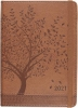 ,<b>Agenda compact  2021 16 mnd 12.7x17.8 cm tree of life</b>