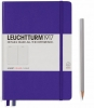 <b>Lt346685</b>,Leuchtturm notitieboek medium 145x210 lijn purple