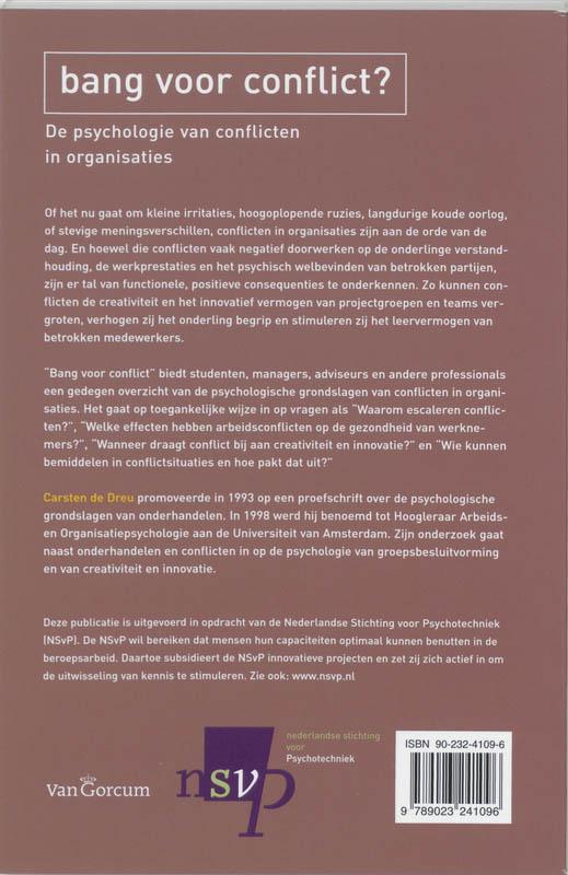C.K.W. de Dreu,Bang voor conflict?