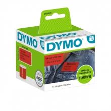 , Etiket Dymo 2133399 labelwriter 54x101mm badgelabel zwart/rood 220stuks
