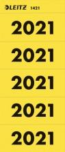, Rugetiket Leitz jaartal 2021 geel