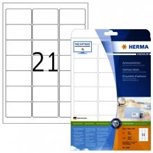 , Etiket Herma 5029 A4 63.5x38.1mm premium wit