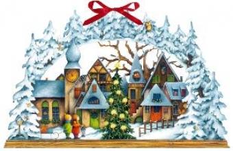 Lichterbogen Weihnachtsdorf Wandkalender