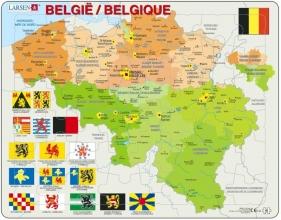 Larsen puzzel- Belgie staatkundig - K59
