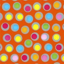 , Apparaatrol brightsummer bolletjes oranje 200mx30cm