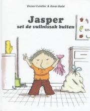 Vincent  Cuvelier Jasper zet de vuilniszak buiten