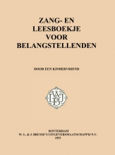 Drs. P Zang- en leesboekje voor belangstellenden