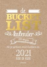 Elise De Rijck , De Bucketlist scheurkalender 2021