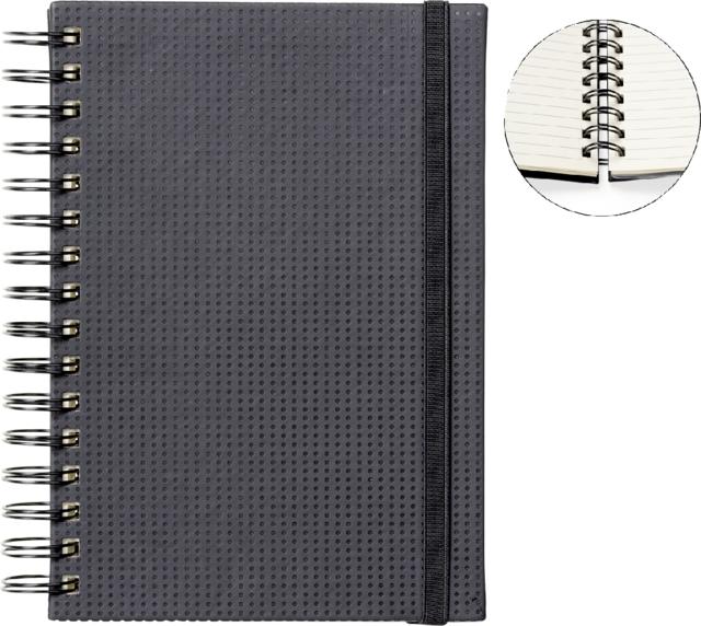 ,Notitieboek Quantore A5 spiraal tab zwart