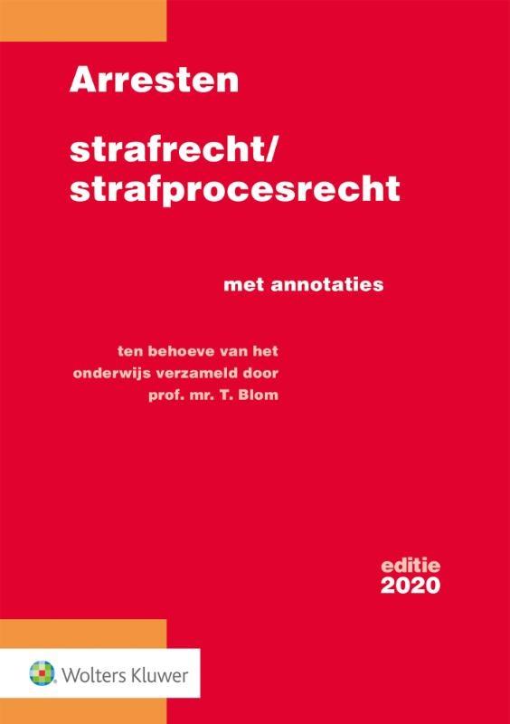 ,Arresten strafrecht/strafprocesrecht 2020