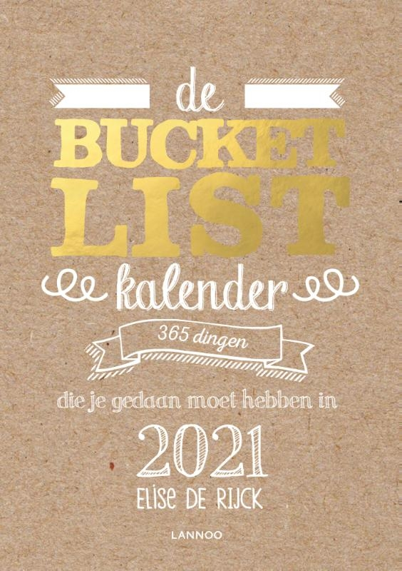 Elise De Rijck,De Bucketlist scheurkalender 2021