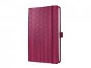 Jn307 ,Notitieboek jolie beauty a5 hardcover lijn rood