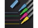 ,krijtmarker Sigel 1-2mm afwasbaar roze/groen/geel/blauw