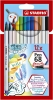,<b>Brushstift STABILO Pen 568/12-21 etui à 12 kleuren</b>