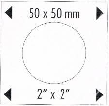 324 851 , Munthoudersbladen 20 munten 50x50 5 vel