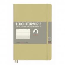 Lt358323 , Leuchtturm notitieboek softcover 19x12.5 cm lijn sand