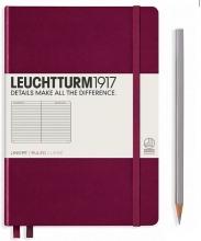 Lt359684 , Leuchtturm notitieboek softcover 19x12.5 cm lijn port red