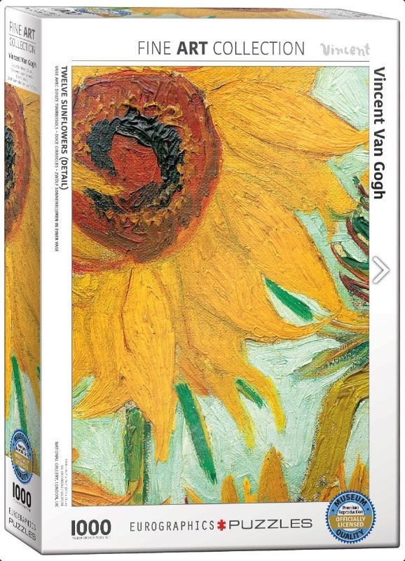Eur-6000-5429,Puzzel eurographics sunflower - gogh- 1000 stukjes