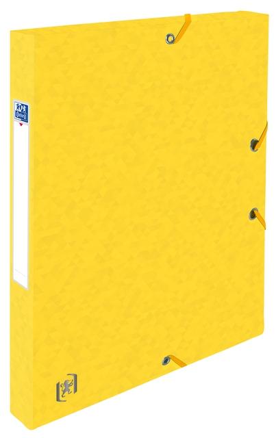 ,Elastobox Oxford Top File+ A4 25mm geel