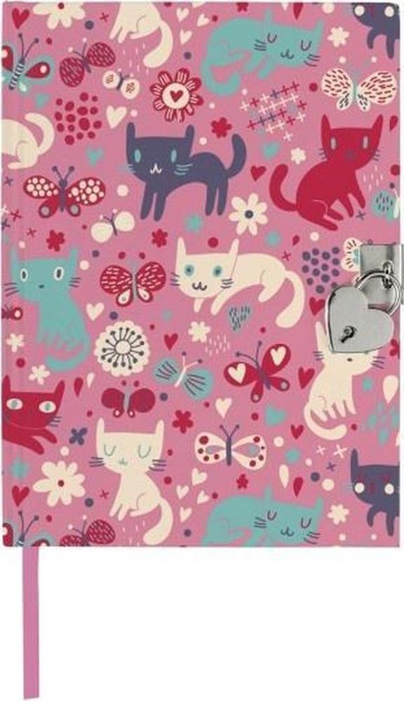 Mos-26079,Dagboek met slot katten volwassenen