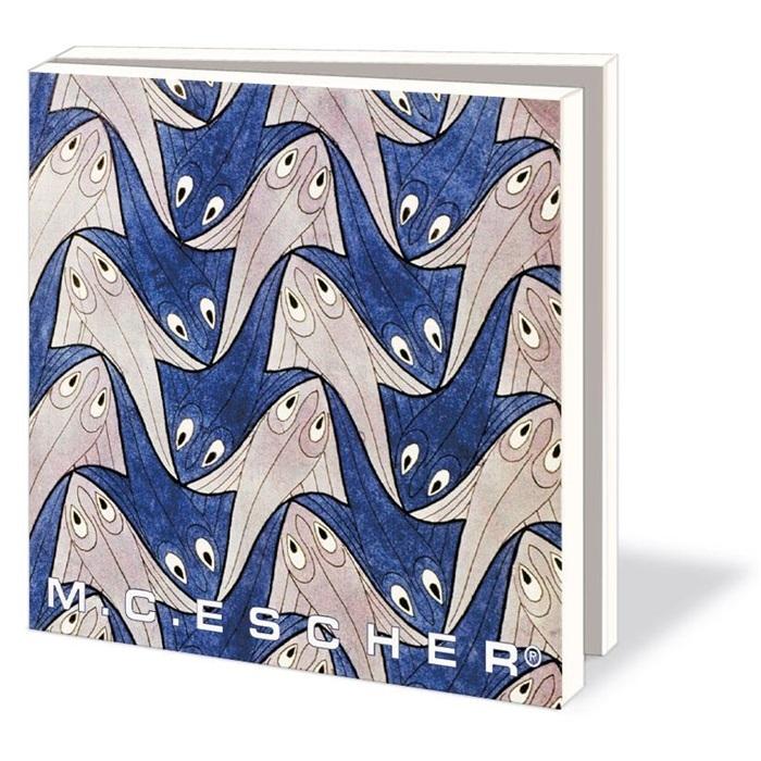 Wmc530,Notecard pak 10 stuks 15x15 cm m.c. escher