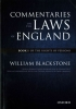 Sir William Blackstone, The Oxford Edition of Blackstone`s: Commentaries on the Laws of England