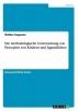 Wiebke Fangmann, Die methodologische Untersuchung von Percepten von Kindern und Jugendlichen