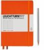 <b>Lt342934</b>,Leuchtturm notitieboek medium 145x210 lijn oranje