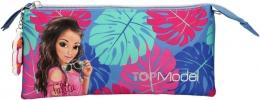 <b>0010424 a</b>,Topmodel etui tropical blauw