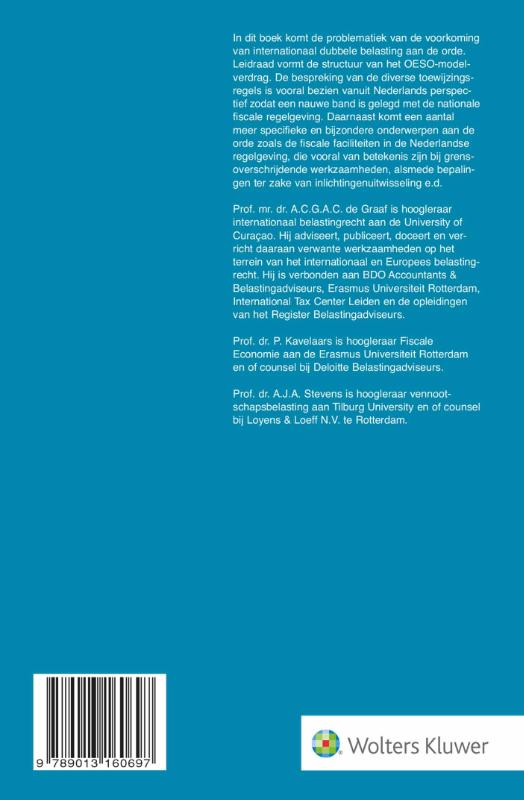 A.C.G.A.C. de Graaf,Internationaal belastingrecht