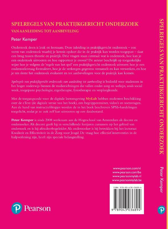 Peter Kemper,Spelregels van praktijkgericht onderzoek met MyLab NL toegangscode