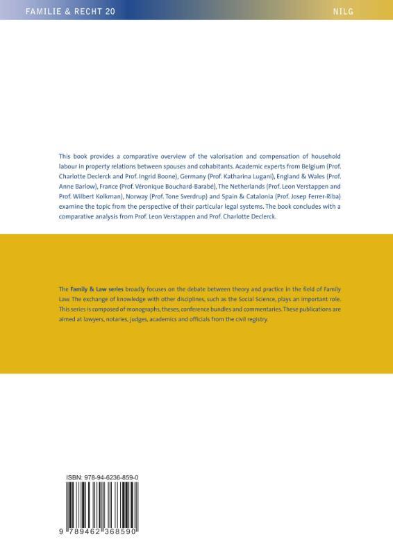 Leon Verstappen,Valorisation of Household Labour in Family Property Law