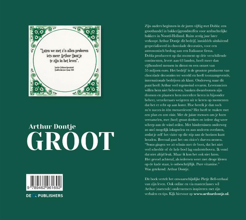 Arthur Dontje,Groot