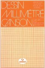 , Millimeterblok Canson A3 lichtbruin
