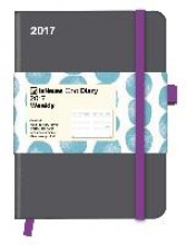 Cool Diary Wochenkalender Grey/Stones Turquoise 2017 16x22