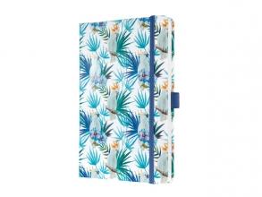 , Notitieboek Sigel Jolie Beauty A5 lijn Indigo Tropics
