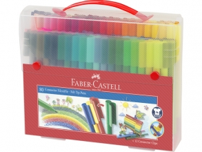 , Kleurstift Faber Castell Connector cadeauset à 80 stuks assorti