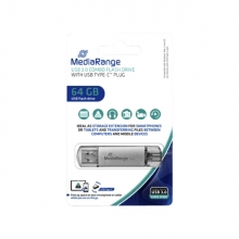 , USB-stick 3.0 MediaRange USB-C 64GB