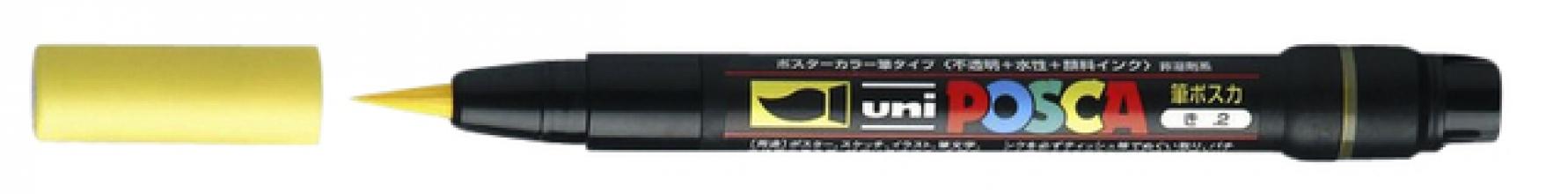 , Brushverfstift Posca PCF350 geel