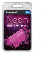 , USB-stick 2.0 Integral 16Gb neon roze