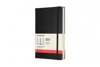 , Moleskine 12 MND Agenda - 2021 - Dagelijks - Large (13x21 cm) - Zwart - Harde Kaft