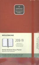 Moleskine Wochen Notizkalender, 18 Monate, 2018/2019, Large/A5, Soft Cover, Scharlachrot
