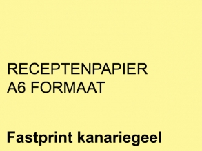 , Receptpapier Fastprint A6 80gr kanariegeel 2000vel