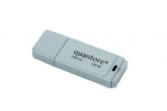 , USB-stick 3.0 Quantore 128GB zilver