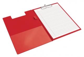 , Klembordmap Quantore A4 rood met 100mm klem + penlus