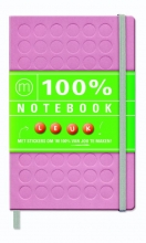 100% Notebook large pink (6 ex.)