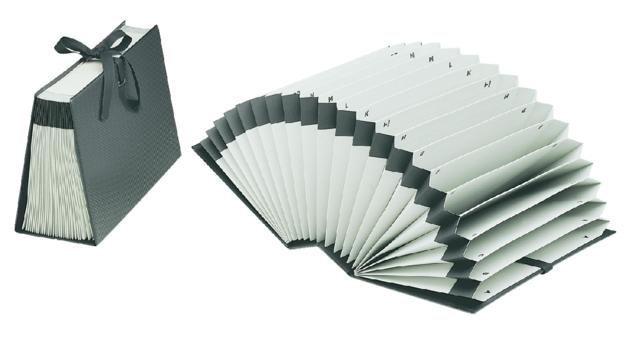 ,Sorteerordner Jalema Diplo-Line folio A/Z 21 vakken zwart