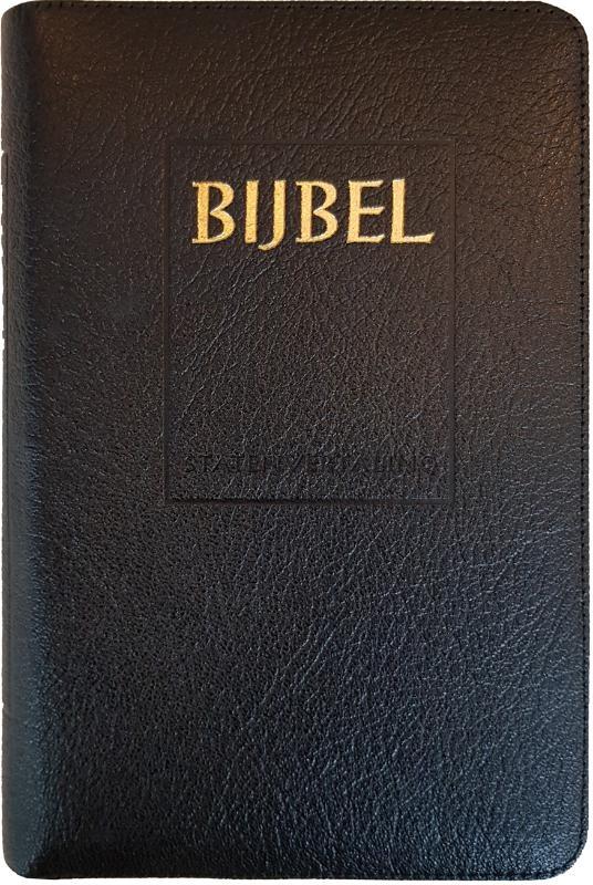 ,Bijbel (SV) met goudsnee, rits en duimgrepen